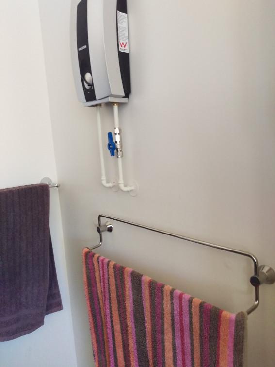 the new towel rail